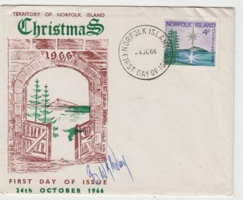 Stamp Norfolk Island Australia 1966 Christmas 4c issue private cachet FDC signed