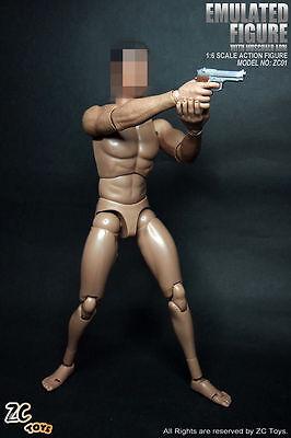 "ZC Toys 1//6 Muscular Wide Shoulder Figure Body Model F 12/"" Head Sculpt with Neck"