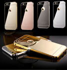 Luxury Ultra-Thin Aluminum Mirror Case Cover for Apple iPhone 7 6s Plus 5 7 Plus