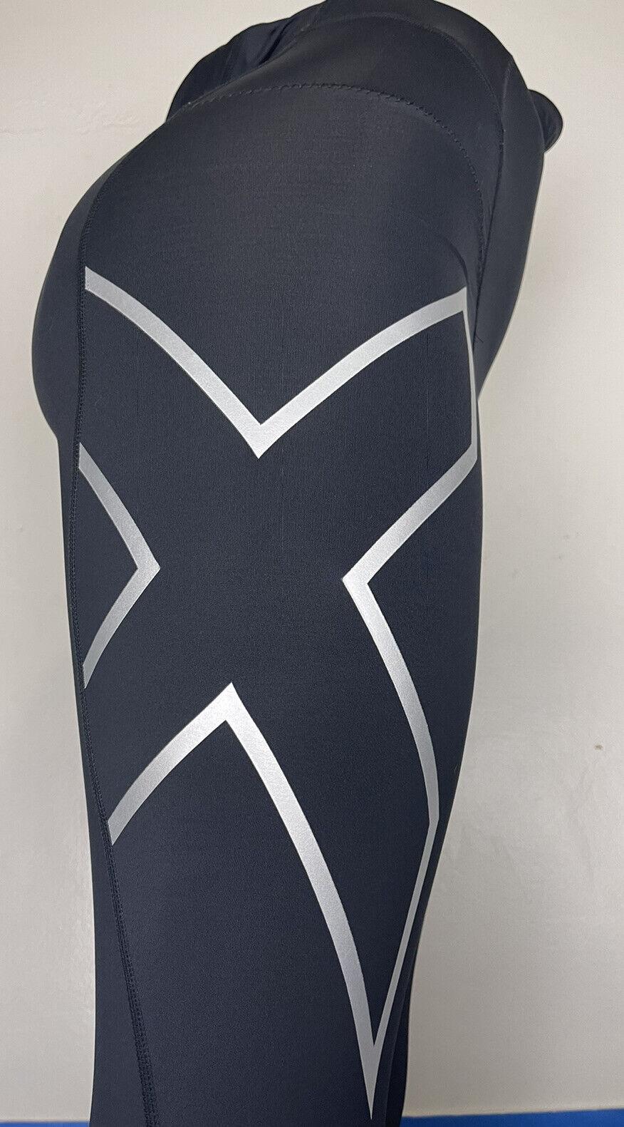 WOMENS 2XU Black ++High-waist COMPRESSION Running LEGGINGS Large