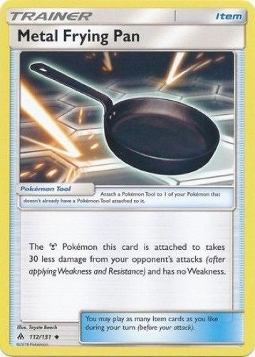 Pokemon TCG x4 Metal Frying Pan 112//131 Sun /& Moon Forbidden Light Trainer NM//M