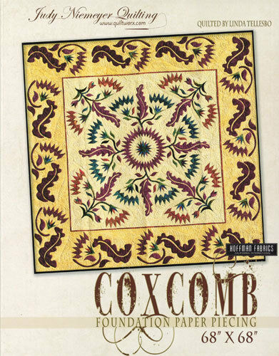 Quilt Pattern ~ COXCOMB~ by Judy Niemeyer Quilting Foundation Paper Piecing