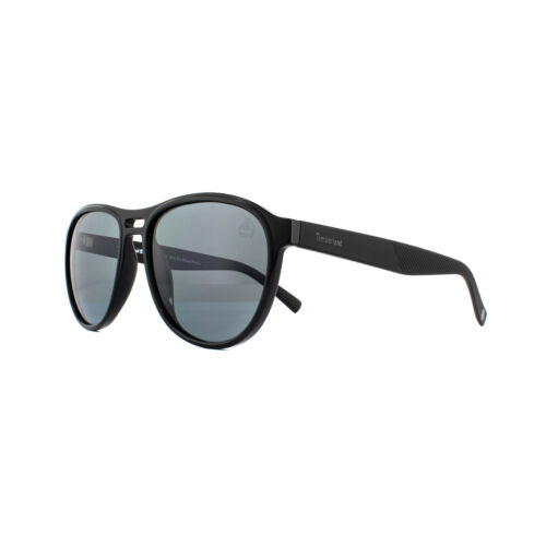 Timberland Sunglasses TB9140 01D Shiny Black Smoke Grey Polarized