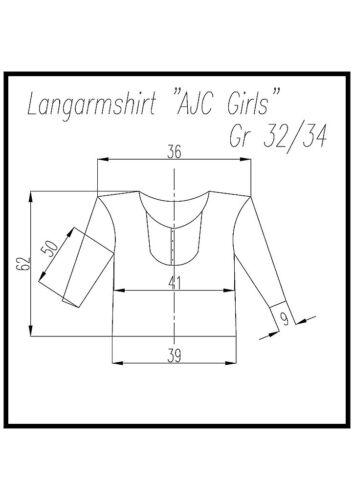 Langarmshirt mit Webeinsatz AJC altrosa Gr Damen XS