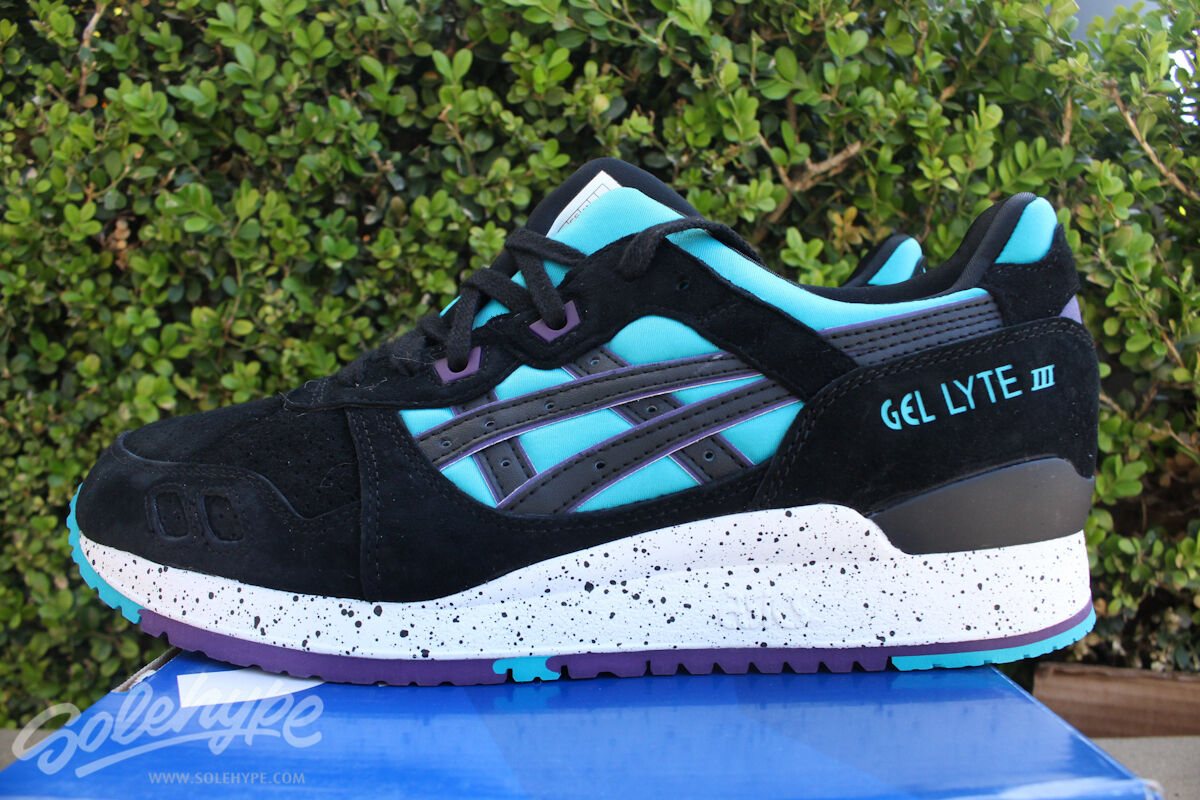 ASICS GEL LYTE III 3 SZ 8 PEACOCK blueE BLACK H642L 4390