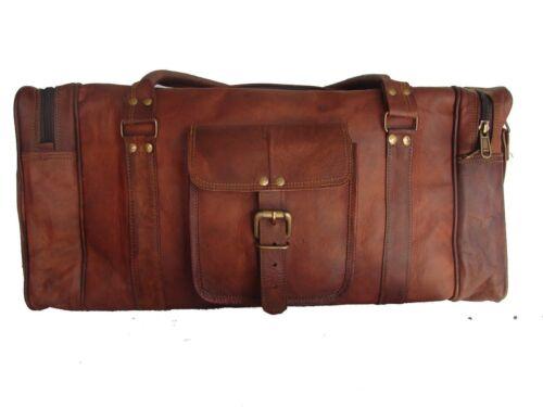 Men/'s Vintage Brown Large Leather Gym Weekend Luggage Travel Duffle Bag Handmade