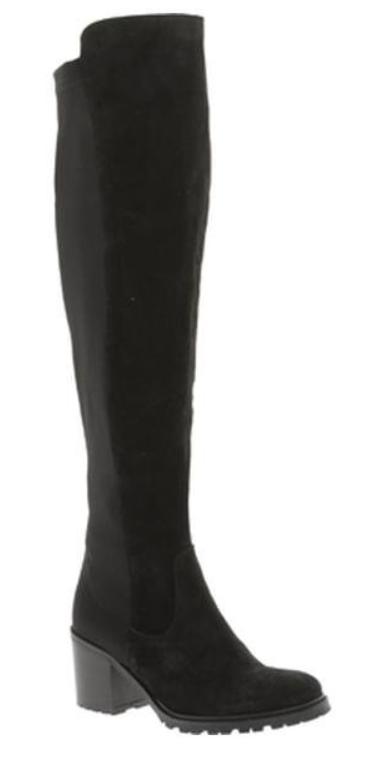 300 Talla 8.5 Tacos Kenneth Cole Daste Negro Gamuza Sobre la Rodilla botas para mujer nuevos  garantizado