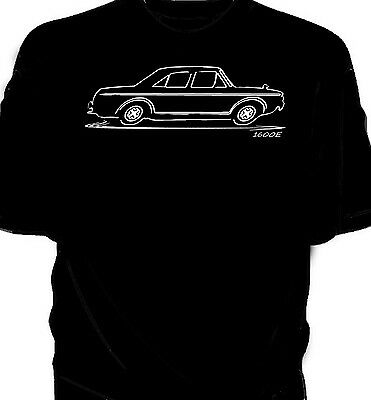 Ford Cortina 1600E Silhouette Soft Cotton T-Shirt Multi Colors S-3XL
