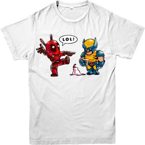 Deadpool T-shirt Wolverine glaces Marvel Super-héros Unisexe Enfants Adultes Tee Top