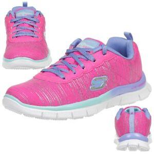 Skechers Mädchen Skech Appeal-Glitter Rush Sneakers, Pink (Npmt), 37 EU