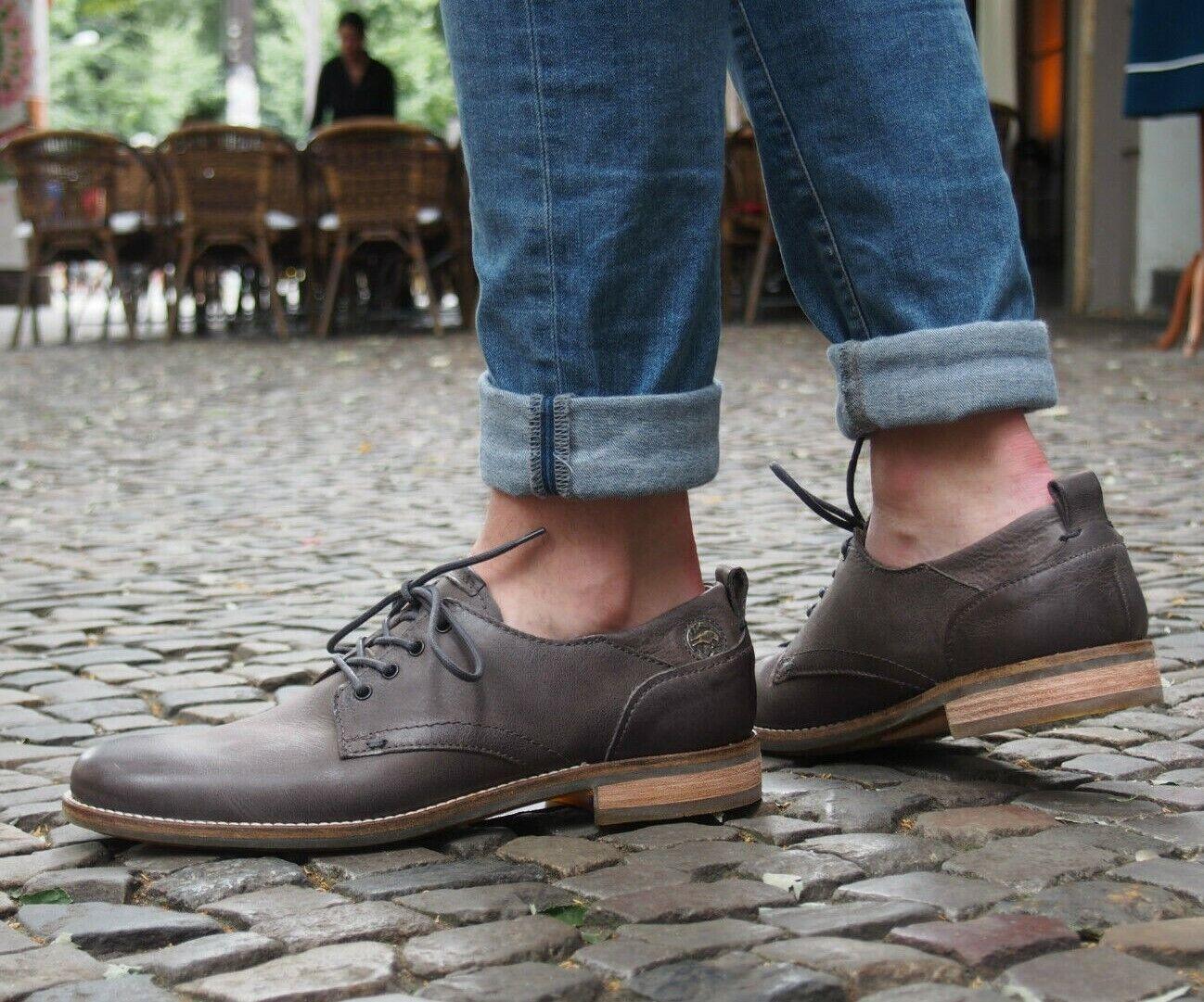 MJUS Schuhe NEU Schnürschuhe 486101 smog grau Echtleder AirStep AS89 Halbschuhe