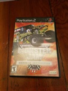 Play Station 2 Monstor Jam Maximum Destruction Video Game Case Manual Disc