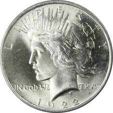 1922-1926 PEACE SILVER DOLLAR BRILLIANT UNCIRCULATED 90/% COIN AMAZING!