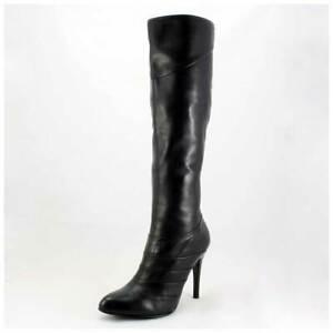 5th Avenue Stiefel Gr. 40 High Heels Lederstiefel schwarz Echtleder (#3559)