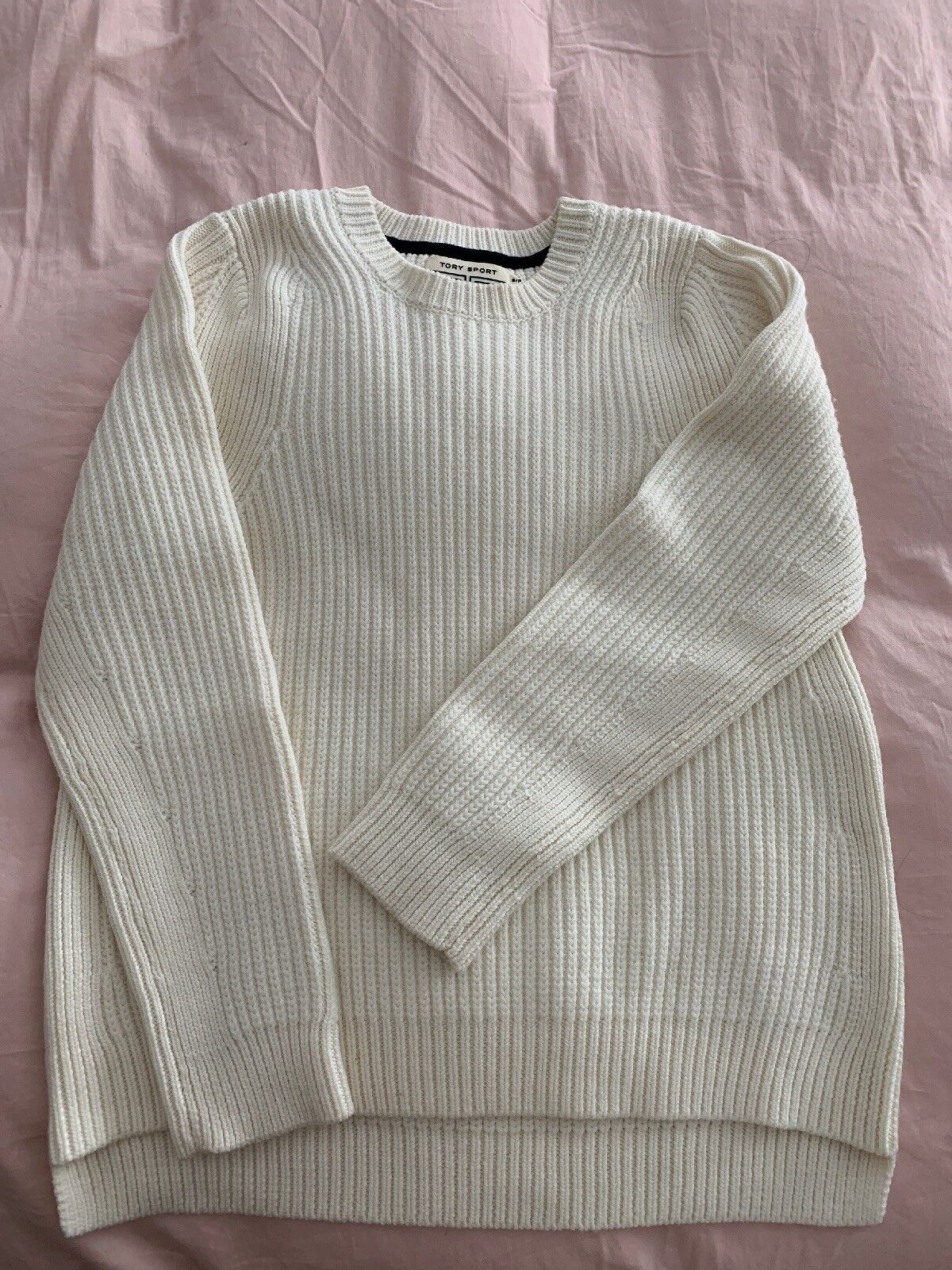 Tory Burch Tory Sport White  Over Sized Sweater S P