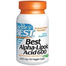 Doctor's Best, Mejor ácido alfa-lipoico, 600 MG, 60 tapas vegetarianas