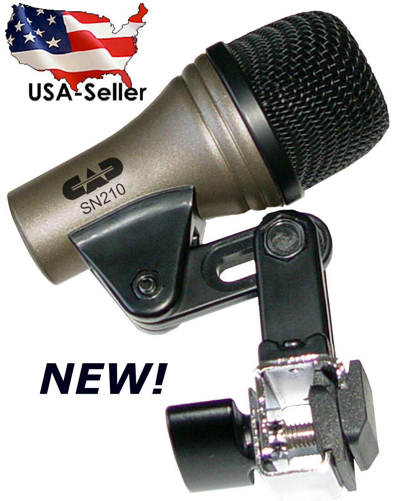 CAD Snare Drum Mic Microphone+rim clip on Mount For Studio+Live Recordings SN210