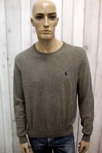 RALPH-LAUREN-Maglione-Uomo-Taglia-L-Casual-Lana-Merino-Sweater-Pull-Pullover-Man
