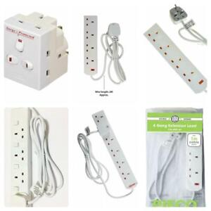 Pifco-2-4-6-Gang-Extension-Lead-1m-2m-5m-SWITCHED-Surge-Cable-Socket-Mains-Plug
