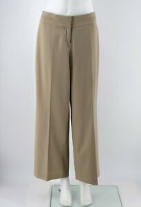 Ann-Taylor-Loft-Julie-Fit-Dress-Pants-Size-6P-Beige-Wide-Leg-Flat-Front-Womens