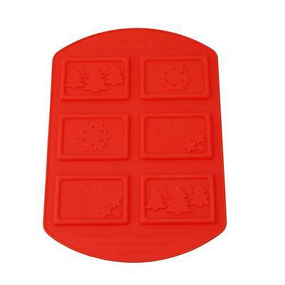 Silicone Cake Mold Christmas 3D Fondant Cookie  House Chocolate Mold Mould Q
