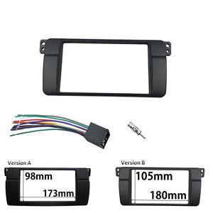 Des2-DIN-Stereo-Panel-Para-BMW-3-Series-E46-Radio-Fascia-Adaptador-Marco-Kit-de-cableado