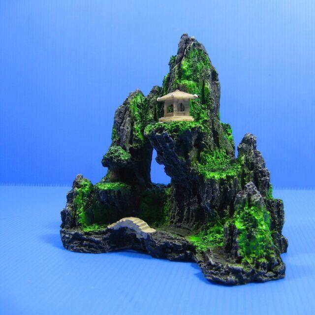 Mountain View Aquarium Ornament Decoration - Rock Cave Tropical FishTank YS054S