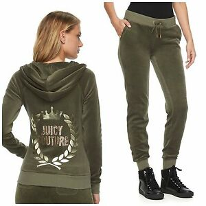 3affa3a8287d Image is loading NWT-JUICY-COUTURE-Tracksuit-Velour-Embellished-Jacket-and-