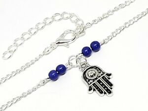 Hamsa-Ankle-Anklet-Bracelet-Hand-of-Fatima-Evil-Eye-Charm-Summer-Beach-Beaded