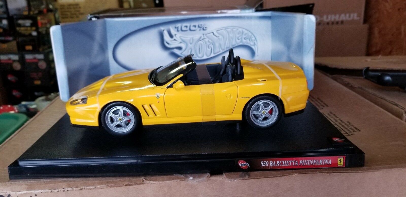 1 18 Hot Wheels Ferrari Barchetta Pininfarina Yellow