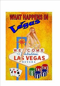 What Happens In Vegas Sign Novelty Las Vegas Sign USA ...What Happens In Vegas Sign