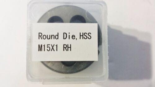 "M15X1 RH HSS Round Threading Die 1-1//2/"" OD Lighthouse quality tools®"