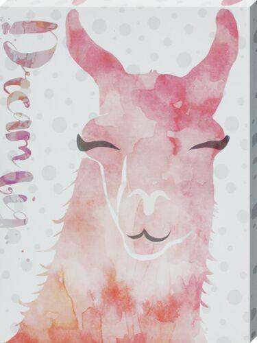 Canvas Print Dream Big Llama 30x40cm