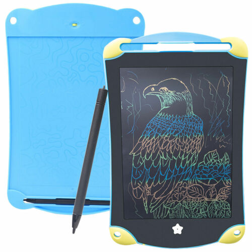 Colorful LCD 8.5 Inch Drawing Tablet Writing Board Notepad Stylus Stand For Kids