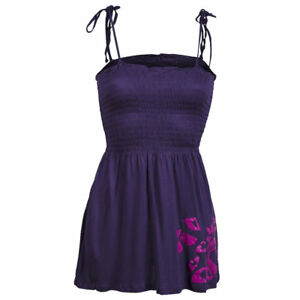 Sexy-Purple-Gypsy-Summer-Cami-Strappy-Bandeau-Bardot-Holiday-Maternity-Top-S-8