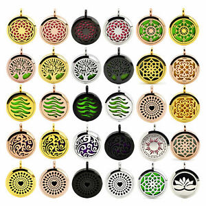 Stainless-Steel-Aroma-Pendant-Multicolor-Essential-Oil-Diffuser-Locket-Necklace