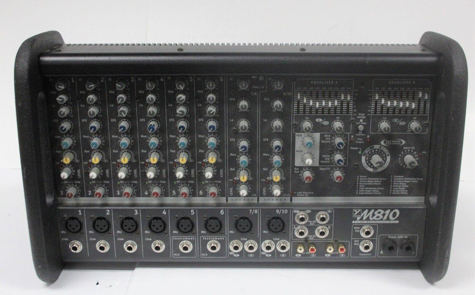 Yorkville M810 Mezclador + Amplificador con 2x400W 2x400W 2x400W y 10 entradas Probado Funcionando  centro comercial de moda
