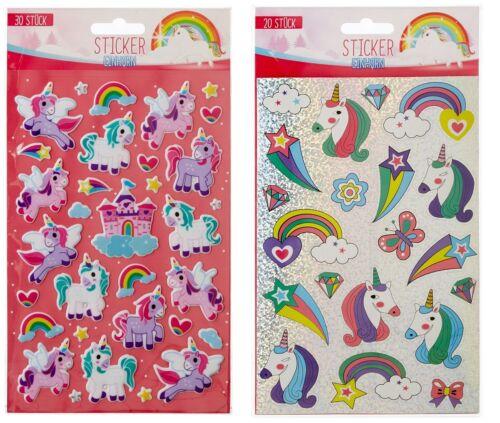 100 Einhorn Sticker Unicorn Mitgebsel Kinder Aufkleber