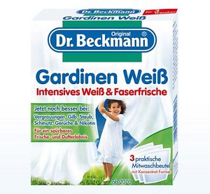 dr beckmann gardinen wei waschmittel pulver intensives wei faser ebay