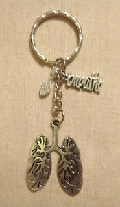 Lungs-Keyring-with-the-word-034-Breathe-034-written-in-Script-and-Spoon-Charm