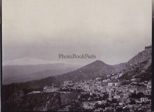 Taormina-E-Etna-Italia-Vintage-Citrato-Foto-H-B-Tate