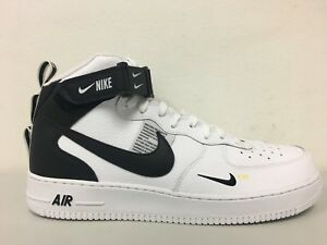 2fac09c11c8 Nike Air Force 1 Mid 07 LV8 White Black Tour Yellow 804609 103 Size ...