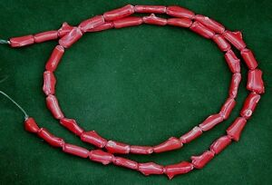 16-Inch-Red-Coral-Strand-Beads-Gem-Stone-Gemstone