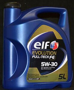 5 liter elf evolution full tech fe dpf 5w 30 motor l rn0720 renault 5w 30. Black Bedroom Furniture Sets. Home Design Ideas
