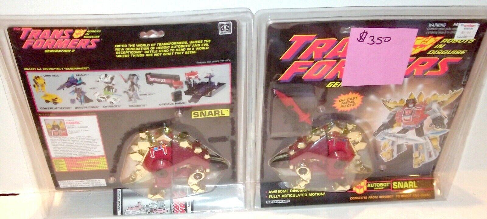 L @ @ K Menta en caja cerrada G2 Transformers Gruñido (Versión Roja) sellado menta en tarjeta Figura Rara