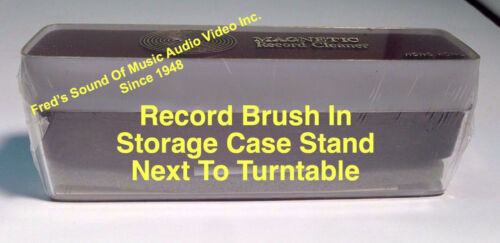"""New /""""Magnetic/"""" Record Cleaner Brush Le-Bo Vinyl Best LP Disc Washer Cleaning"""