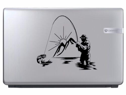Fisherrman Fishing Vinyl Decal Sticker Car Window Design Laptop Angler Design