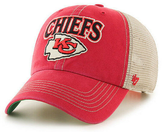 KANSAS CITY CHIEFS NFL SNAPBACK TRUCKER CLEAN UP TUSCALOOSA CAP HAT NEW 47 BRAND