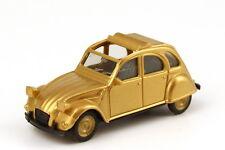 1:87 Citroën 2 CV 6 Rolldach offen gold metallic Felgen gold - herpa 166096/79