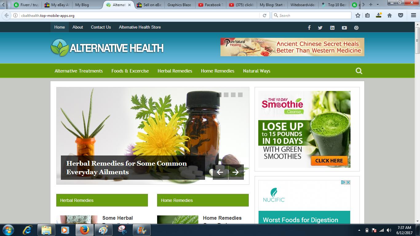 Alternative Health Clickbank adsense wordpress website ads placement see DEMO 2
